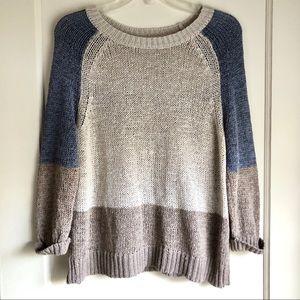 360 Sweater Multi-Color Crew Neck Sweater NWOT